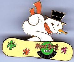 Denver Snowboarder ice man - Hard Rock Cafe Lapel PIN Spilla HRC | eBay