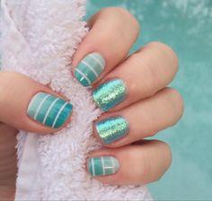 Simply Sweet plus Life's A Beach gel. I MUST do this mani! <3 #simplysweetjn #lifesabeachjn