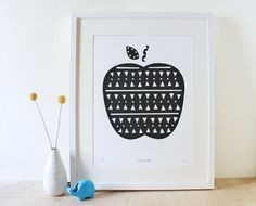 Apple Print with triangles