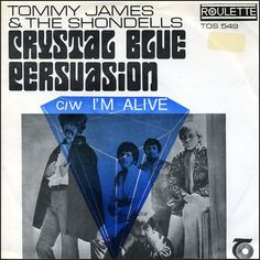 """Tommy James & The Shondells """"Crystal Blue Persuasion"""" (1969) — 45 rpm record sleeve"""