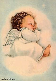 "How sweet is this darling little angel? Browse our selection of ""Angel Baby"" cards and gifts in the Shower of Roses Shoppe on Zazzle! Angel Images, Angel Pictures, Cute Pictures, Vintage Christmas Cards, Vintage Cards, Baby Engel, I Believe In Angels, Theme Noel, Angel Art"