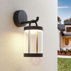 78€ | Lucande Caius LED outdoor wall light | Lights.ie