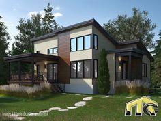Fidji est un modèle de maison préfabriquée populaire, ses pièces à aire ouverte offrent une belle luminosité. St Jacques, Mansions, House Styles, Plans, Home Decor, Unique, Main Street, Fiji, Large Bedroom