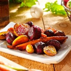 Roasted beets, carrots, and turnips with balsamic vinegar..perfect fall side