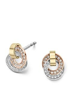 Michael Kors Tri-Tone Pav� Earrings