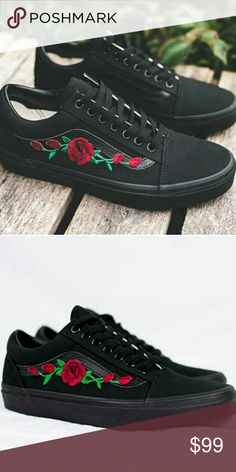 804184b7ef Custom Rose Vans These are handmade and will take up to 2 weeks to ship