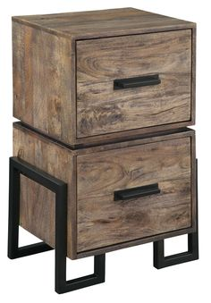 Accents Loft File in Black/Pine by Hekman - Home Gallery Stores $389