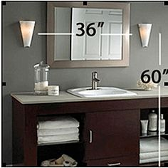 Modern brass sconce vanities face and eye rule of thumb normally you want the center of the fixture at 60 66 above the floor and the sconces should be at least 30 apart mozeypictures Images