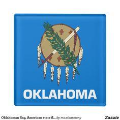 Oklahoman flag, American state flag Glass Coaster