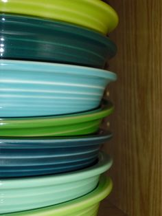 Im starting my #fiestaware collection and want these colors:  Lemongrass  Evergreen - retired  Turquoise  Shamrock  Juniper - retired  Sea Mist - retired  Chartreuse - retired