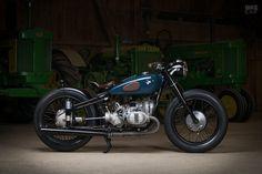 Vintage BMW R51/2 restomod motorcycle