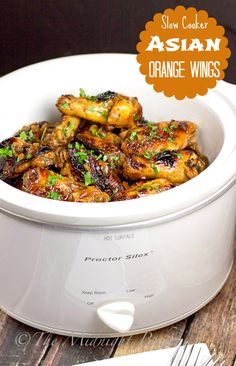Really impress your friends on game day with Slow Cooker Asian Orange Wings! These tangy, sweet and spicy wings make the best football-food and are sure to be a fan-favorite!