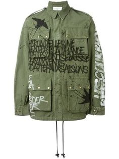 You'll find a great selection of men's military jackets at Farfetch. Search from over 2000 designers for all the latest in military jackets for men Diy Clothing, Custom Clothes, Cargo Jacket, Field Jacket, Military Fashion, Mode Style, Punk Fashion, Military Jacket, Menswear