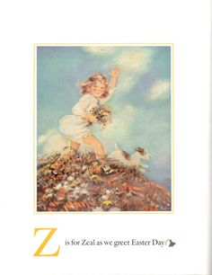from an old easter alphabet book