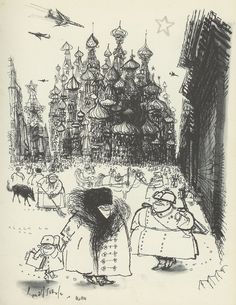 Illustration of Russia by Ronald Searle