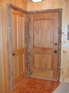 Captivating Rustic Interior Elements Adirondack Door Trim Home
