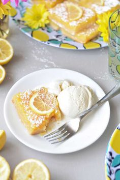 Best served with a bit of vanilla ice cream on our Lemon Plates and Lemon Melamine Tray