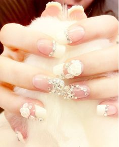 Interesting yet pretty. Not sure I would ever do it on my own nails though.