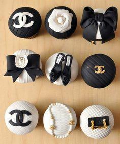 Chanel cupcakes - cupcake, pasta americana, feminino -