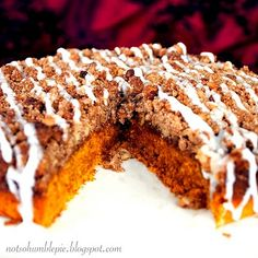 Pumpkin coffee cake. Sounds like a great Thanksgiving breakfast!