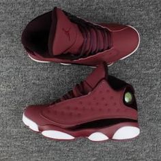 low priced f5590 b2e98 Nike Air Jordan XIII 13 Retro Velvet wine red black white Men Shoes Jordan  Xiii,