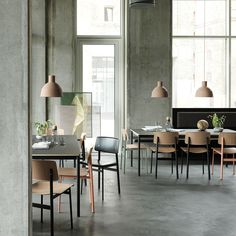 The Loft Chair by Muuto exemplifies simple, honest design. Contrasting materials inspired by industrial designs and unique color combinations make the Loft a truly unique addition to the dining table. Bar Restaurant Design, Modern Restaurant, Scandinavian Restaurant, Restaurant Restaurant, Industrial Restaurant, Restaurant Interiors, Outdoor Restaurant, Architecture Restaurant, Interior Architecture