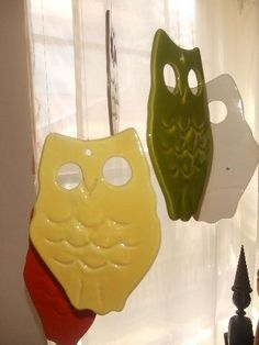 Owl wind chimes! Cookie cutters & self-hardening clay & paint...VOILA!