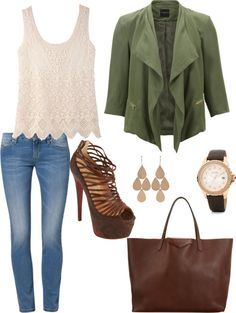"""""""Everyday Spring Outfit"""" by elisa-garraffo ❤ liked on Polyvore"""