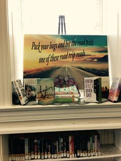 Road Trip Reads at your library! Library Book Displays, Library Ideas, Library Books, Bb, Road Trip, Baseball Cards, Reading, Road Trips, Reading Books