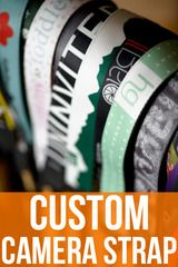 Custom camera straps- yes, please!!