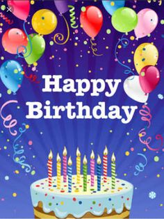 Send Free Fabulous Happy Birthday Party Card to Loved Ones on Birthday & Greeting Cards by Davia. It's free, and you also can use your own customized birthday calendar and birthday reminders. Happy Birthday Greetings Friends, Free Happy Birthday Cards, Happy Birthday Wishes Photos, Happy Birthday Video, Happy Birthday Celebration, Birthday Wishes Messages, Birthday Blessings, Happy Birthday Balloons, Birthday Greeting Cards