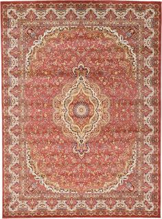 Rust Red Isfahan Design Area Rug