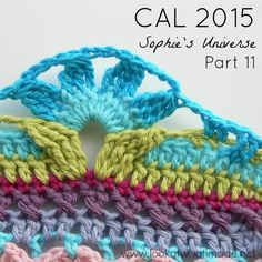 Good morning and welcome to Part 11 of the Sophie's Universe CAL 2015. This week we have only 4 rounds, and they are a repeat ofSophie's Garden…which means that your long side/short side days are at an end (after one more round). Each and every one of you should feel immensely proud of yourselves for …