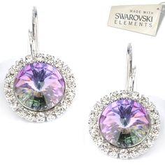 b740a27fb Štrasové náušnice s kryštálmi Swarovski Elements RIVOLI VL Divine Jewellery  eshop