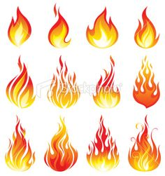 Illustration about Flame vector set digital illustration. Illustration of digital, vector, illustration - 53751461 Fire Tattoo, 1 Tattoo, Drawing Flames, Flame Tattoos, Fire Image, Flame Art, Free Illustrations, Art Plastique, Free Vector Art