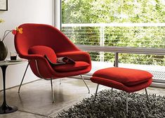 Eero Saarinen Womb Chair given to his pregnant employees as a gift for maternity leave.