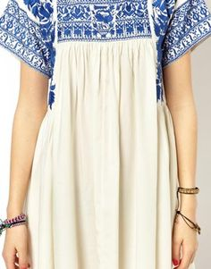 Image 3 of ASOS TALL Premium Swing Dress With Embroidery