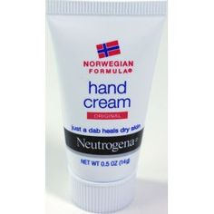 Neutrogena Norwegian Formula Hand Cream C02-0322001-8000 - 0.5 oz travel size hand lotion in plastic tube.