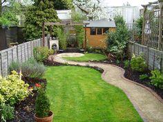 Small garden that was also a long thin garden
