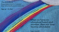 Abundance Quote, Lacy Arnold From the Abundant Businesswoman's Summit