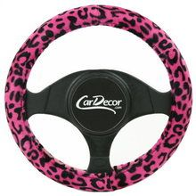 Leopard Pink car steering wheel cover from CarDecor.com. #girlycaraccessories