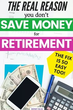 This is a financial freedom must read from Money Bliss. Learn the real reason why you don't save for retirement and simple way to overcome it. Things have been complicated with the 4 percent rule, then the 3 percent rule and now the 5% rule of retirement. Find out how much do I need to retire? Plus get tips on the besy ways for saving money for retirement. Click here to learn exactly how much money to save for retirement. | Money Bliss Retirement Money, Saving For Retirement, How To Be Rich, How To Become, Investing Money, Saving Money, Become A Millionaire, Personal Finance, Simple Way