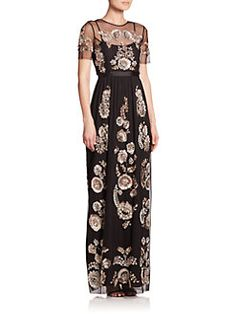 needle & thread - Sequin Illusion Maxi Dress