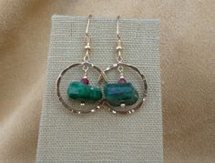 MacDesigns  Emerald and Ruby Earrings by macdesignsgallery on Etsy