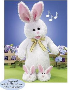 """Peter the Jumping Bunny """"Here Comes Peter Cottontail"""" Chantilly Lane Bear #122"""