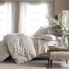 Dreamy floral print artistically rendered for the soft-washed appearance of a watercolor painting.