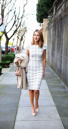 Business outfits, business attire, classy dress, stitch fix stylist, sheath Office Wear Dresses, Office Attire, Office Outfits, Work Attire, Casual Office, Office Dresses For Women, Office Uniform, Outfit Work, Office Chic