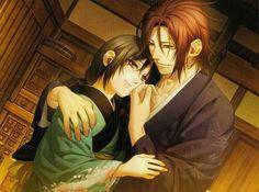 Hakuouki Photo: Sano and Chizuru Samurai, Hot Anime Guys, Anime Love, Manga Anime, Anime Art, Anime Dubbed, Manga Couple, Romantic Photos, Vampire