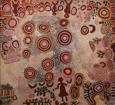 Australian Aboriginal Art Painting by alice napanangka granites