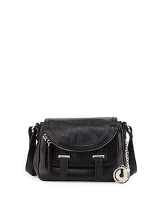 Charles Jourdan Kelsie Tumbled Leather Saddle Crossbody Bag, Black List   200.00 Now  120.00  opulentnails 9029b447a7